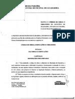 Código de Obras e Urbanismo Lei-813-2008 TEXTO