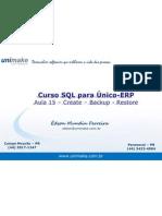 Curso SQL - Unico - Aula15 - Create - Backup - Restore