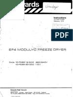 Edwards EF4 modulyo freeze dryer instructions ENG.pdf