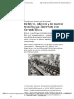 De libros, editores y las nuevas tecnologías