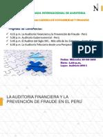 La Auditoria Financiera y La Prevención de Fraude en El Peru