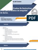 Clasificación de Pruebas No Destructivas para el  Análisis de Integridad de Ductos.