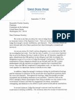Senate Judiciary Democrats Letter - Sept. 17