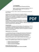 Definición y Conformación Del Sistema Tesoreria
