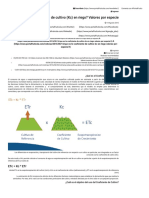 ¿Que Es Le Coeficiente de Cultivo (Kc) en Riego Valores Por Especie - PortalFruticola.com