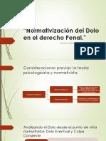 Normativización Del Dolo en El Derecho Penal