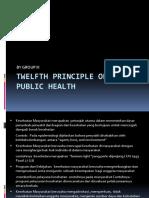 Twelfth Principle of Public Health-klp 3