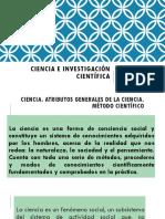 CIENCIA E INVESTIGACIÓN CIENTÍFICA  METODO CIENTIFICO 1.pptx
