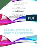 Examen Fisico en El Niño y Adolescente