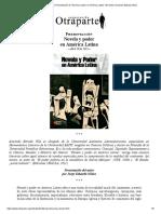 """Otraparte.org _ Presentación de """"Novela y Poder en América Latina"""" Del Doctor Armando Estrada Villa"""