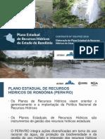 Plano Estadual de Recursos Hídrico de RO 2017