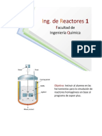 Calculo de la conversion maxima en un reactor por lotes en aspen plus