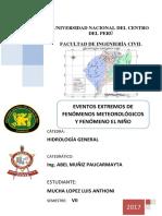 Eventos Extremos de Fenómenos Meteorológicos y Fenómeno El Niño