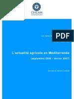 actualité agricole en Mediterrannee