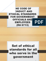 The Code of Conduct and Ethical Standards