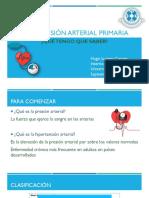 Hipertensión Arterial Primaria Educacion