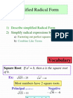 33 Simplified Radical Form.ppt