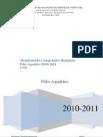 REGULAMENTO COMPETIÇÕES REGIONAIS DE PÓLO AQUÁTICO 2010-2011