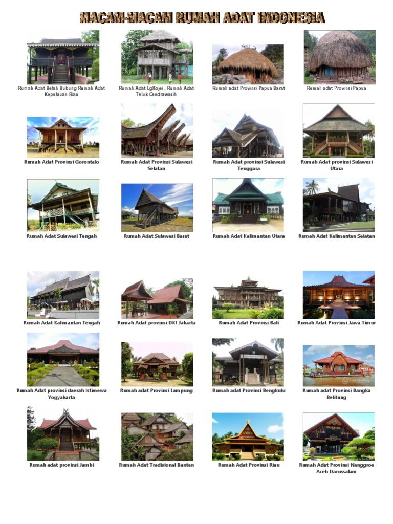Gambar Rumah Adat Di Indonesia Fynd Marketplace Lokal