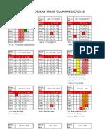 2. Kalender Pendidikan- 2017-2018