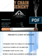 Supply chain of itc cigarattes