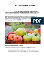 Jarang Bertemu Dokter Berkat Manfaat Apel