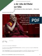 Las 18 Reglas de Vida Del Dalai Lama Para Ser Feliz _ De10