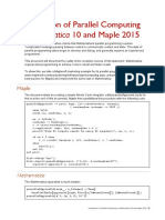 Mathematica 10 Maple 2015 Parallel Programming