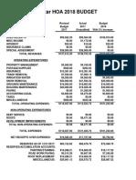 wolfstar hoa 2018 budget
