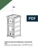 Instrucciones de Instalación y Manual de Uso- Olympia