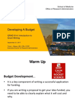 Developing a Budget - Intro to Grant Writing