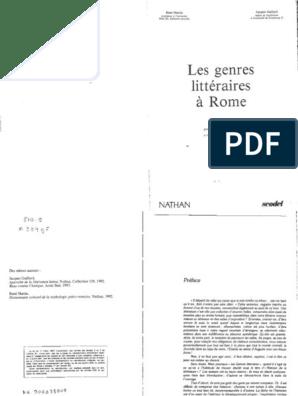 Drop Les Genres Litteraires a Rome RR | Poésie | Romans
