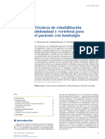 Técnicas de Rehabilitación Abdominal y Vertebral Para El Paciente Con Lumbalgia