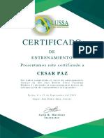 Certificado CESAR PAZ