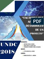 Factores Que Afectan El Desarrollo de Un Proyecto