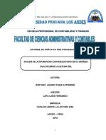 INFORME DE PRACTICAS PROFESIONALES CASA DEL LIBRO DE LECTURA EIRL