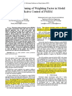 Online Fuzzy Tuning of Weighting Factor in Model Predictive Control of PMSM