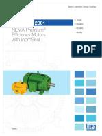 WEG Ieee 841 2001 Nema Premium Efficiency Motors With Inproseal Usa841 Brochure English