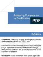Competence vs Qualification