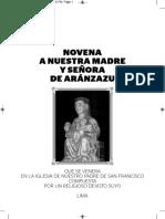 Novena de Nuestra Madre y Señora de Aranzazu