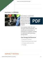 Asphalt Coring and Testing _ Asphalt Testing Solutions