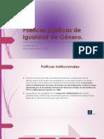 políticas públicas igualdad