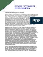 Universal Health Coverage Di Indonesia Dan Dampaknya