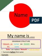 japanese my name is pdf
