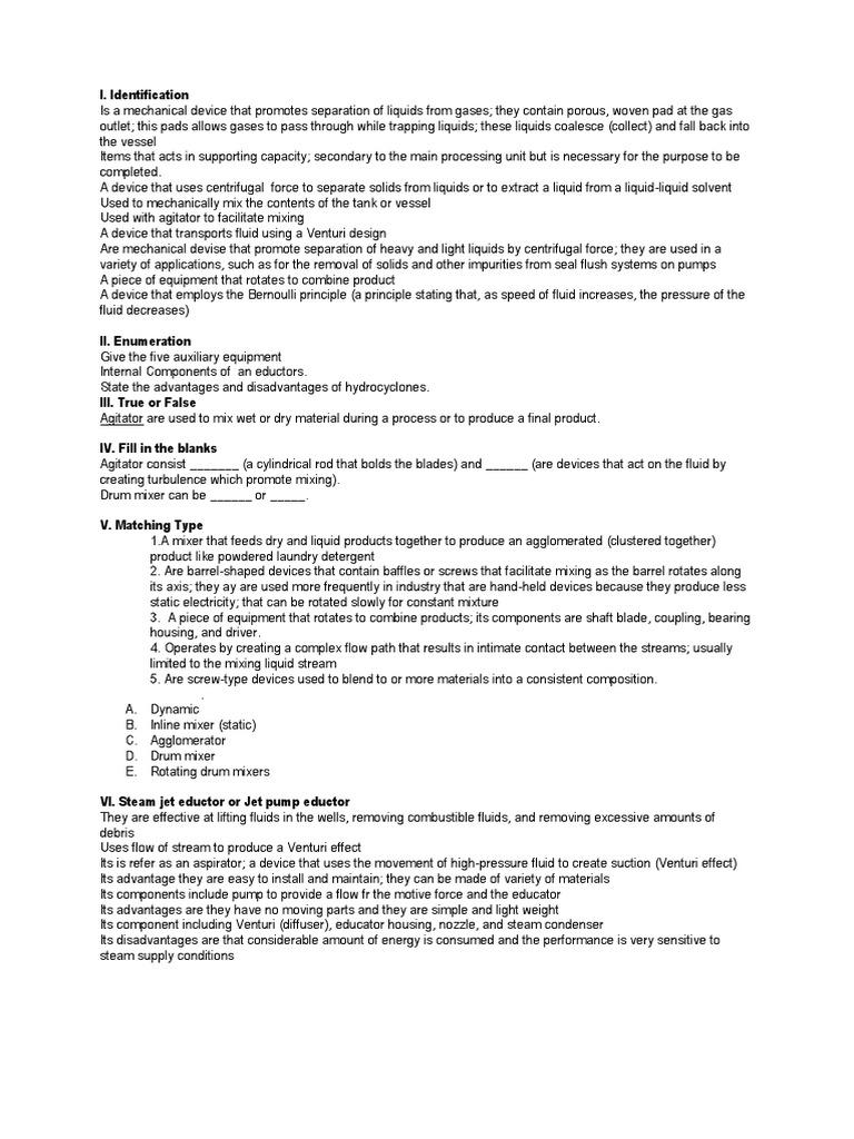 Auxiliary Equipment | Pump | Mechanical Engineering