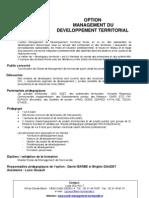Option M2 Management du Developpement Territorial Basse normandie