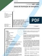 NBR 10898 - Sistema de iluminação de emergência