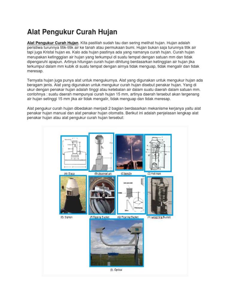 54 Gambar Alat Penakar Hujan Otomatis Kekinian