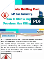 LPG Cylinder Refilling Plant. LP Gas Industry