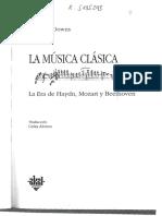 La Musica Clásica - Philip G. Downs